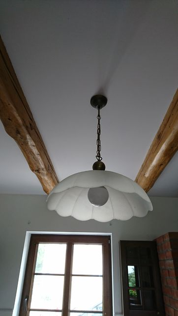 Lampa mosiężna mleczne szkło