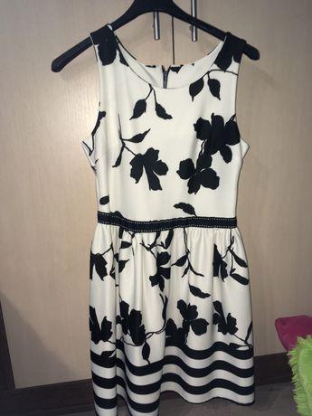 Sukienka damska czarno biała