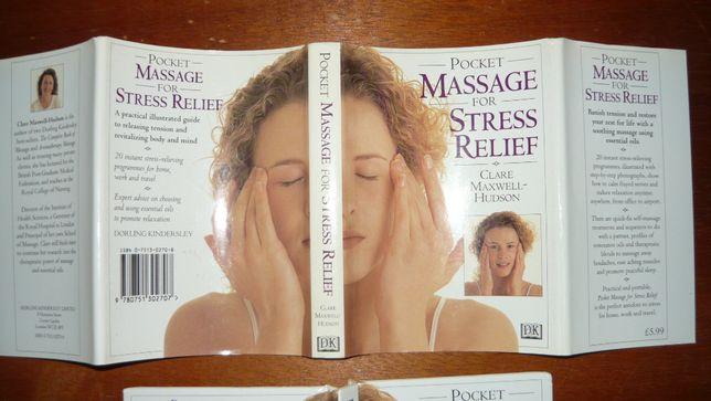 Książka o masażu kieszonkowa angielska stresu po angielsku ilustrowana