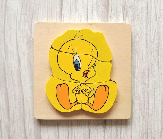 Drewniana Układanka dla maluszka Tweety puzzle drewniane Disney