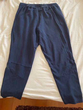 Calças fato treino adidas azuis tamanho M