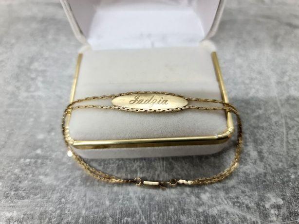 585 Złota bransoletka Jadzia 18cm