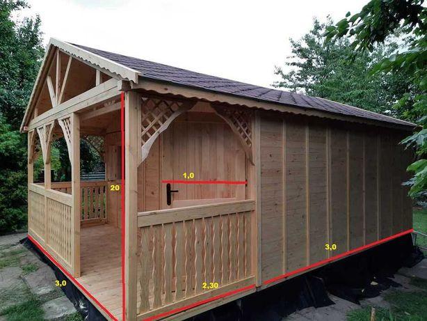 domek, altana, drewniany, ogrodowy, narzędziowy, letniskowy, rod