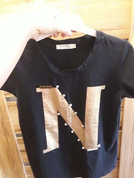 Czarny t shirt M-L
