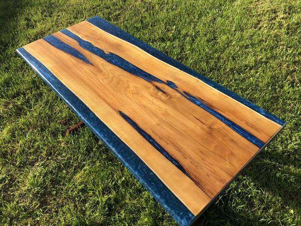 Stół / ława z drewna i żywicy