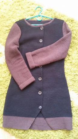 Стильное Пальто вязка