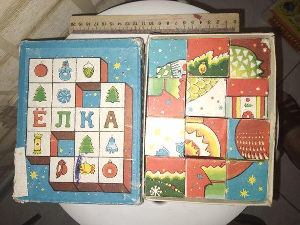 Продам кубики СССР N2.Винтаж. Игрушки.
