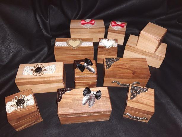 Pudełka ślubne i biżuteryjne