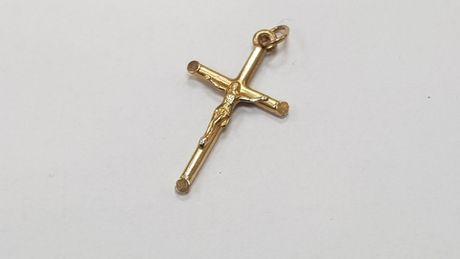 Piękny złoty krzyżyk męski/ 585/ 0.97 gram/ 2.7cm /Świętojańska 40 Gdy