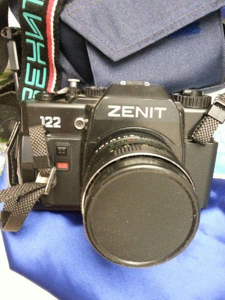 Фотоаппарат Зенит 122 с объективом МС 44М-5 и МС Юпитер-37А