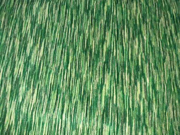 Stary materiał obiciowy zielony miękki