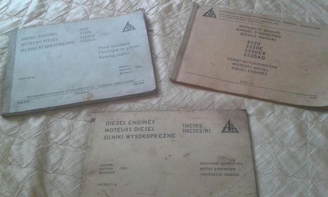Książki obsługi i naprawy silnika oraz katalog części