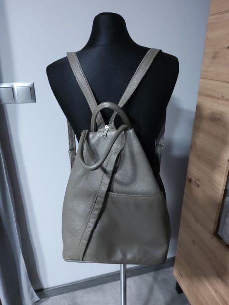Skórzany plecak damski ręcznie robiony