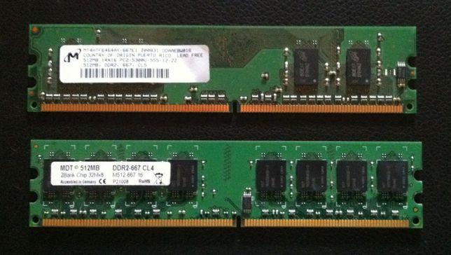 2 x 512 Mb RAM DDR2