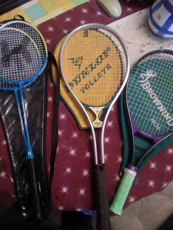 Lote de Raquetes de ténis e badminton