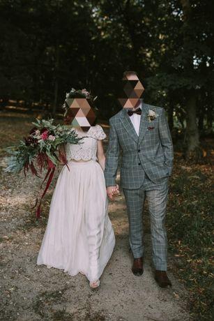 Suknia ślubna boho rustykalna