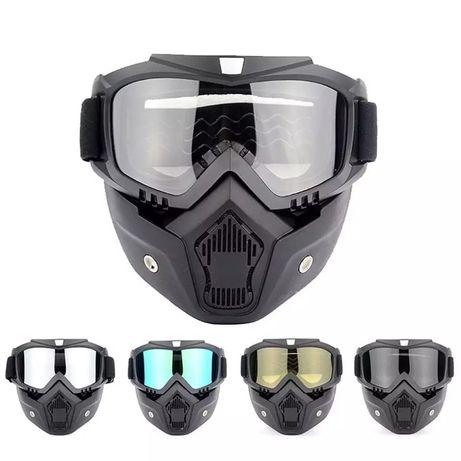 Máscara viseira óculos para capacete aberto bobber chopper