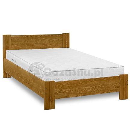 solidne drewniane łóżko sosnowe z wysokim zagłówkiem ETIUDA 180x200