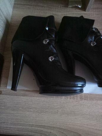 Кожаные ботинки женские 38разм