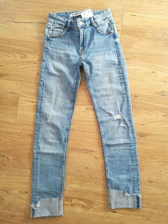 ZARA nowe spodnie dżinsowe r. 34