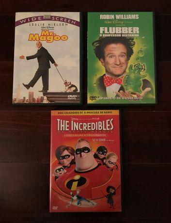 DVDs Disney raros: Mr. Magoo (Nielsen)/Flubber (Williams)/Incredibles