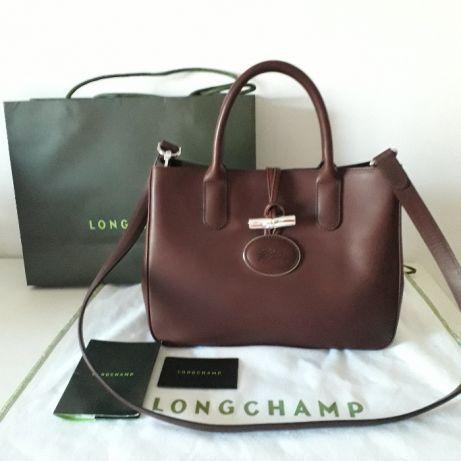 Mala ORIGINAL da Longchamp Roseau Chocolate - Valor Mínimo