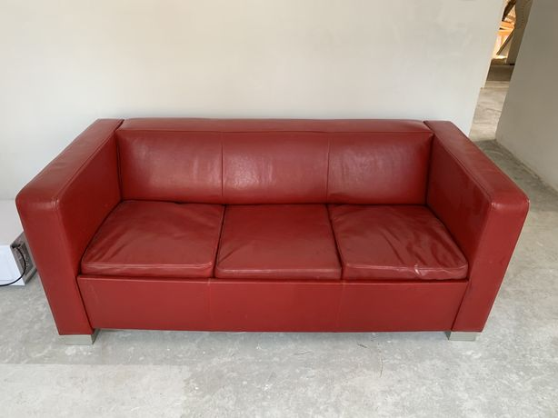 Skórzana kanapa z funkcja spania