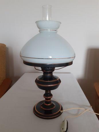 Ozdobna lampa stołowa/gabinetowa  PRL 1979