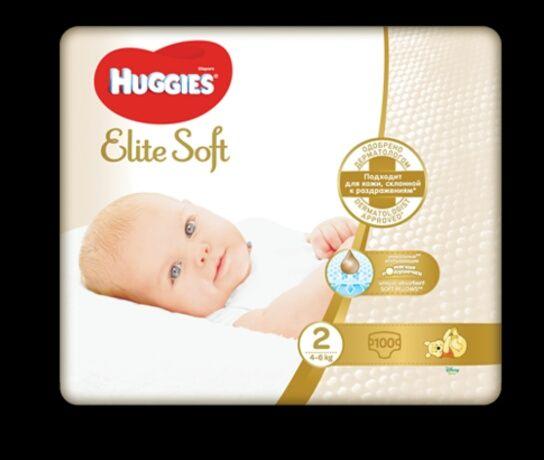 Підгузки Huggies elite soft 2