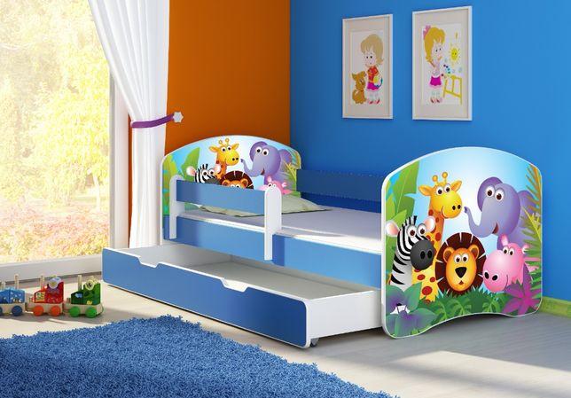 Łóżko, łóżeczko dziecięce Niebieskie 180x80