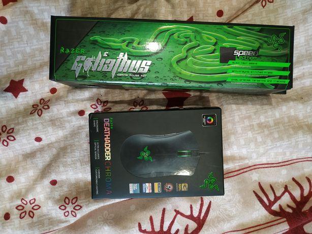Игровая мышь Razer Deathadder Chroma & Razer Goliathus