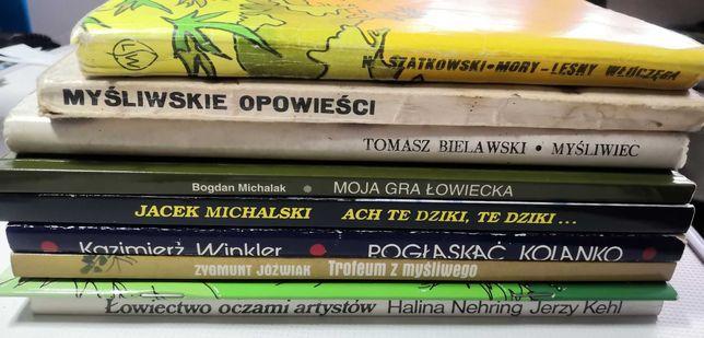 Zestaw 9 książek o lesie myślistwie myślistwo łowiectwo