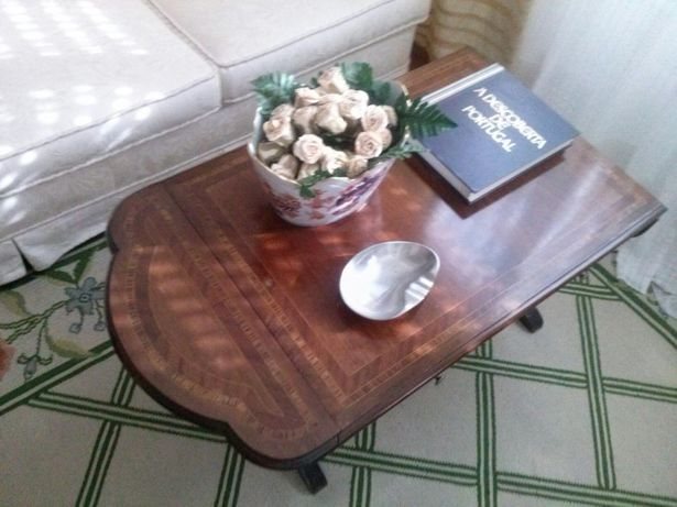 Vintage Walnut wood Coffee table Mesa de café com abas em nogueira