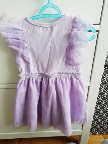 Sukienka sukieneczka tiul tiulowa brokat falbanki r 80