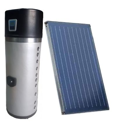 Kit solar forçado Riello ,com bomba de calor therca em inox asi 316