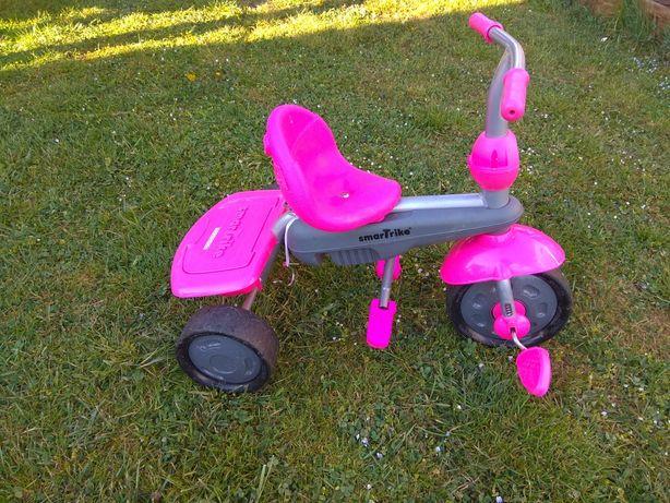 Rowerek SMART TRIKE BREEZE Różowo -Szary 3w1 wysyłka