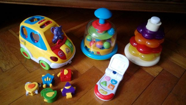 Zabawki samochód interaktywny i telefon Zestaw