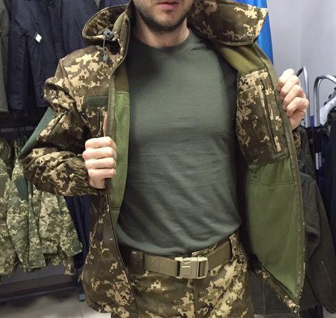 Куртка тактическая SoftShell ЗСУ MM 14, софт шелл пиксель