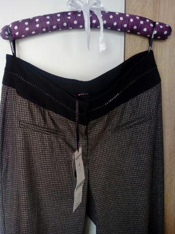 Morgan nowe z metka  spodnie dzwony szerokie czarne srebrne L