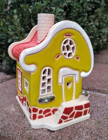 Уникальный подарок. Домик - подсвечник из керамики. Аромалампа
