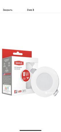 Светодиодный светильник Maxus со встроенным драйвером 8W 4100К