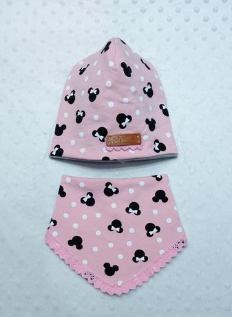 Nowa czapka i chusta na 40-44 cm