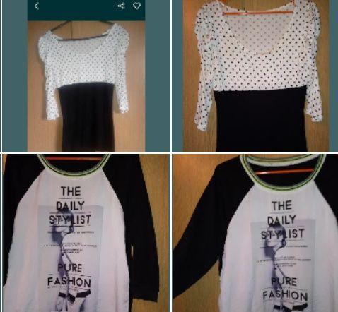 Super bluzki bluzeczki bufki print