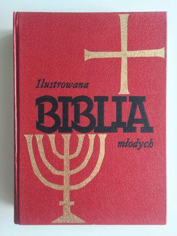 BIBLIA Młodych Ilustrowana Dla Dziewcząt i Chłopców 1982.