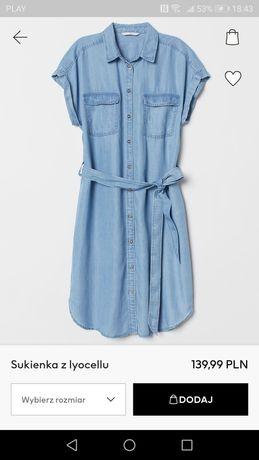 H&M sukienka jeansowa 34