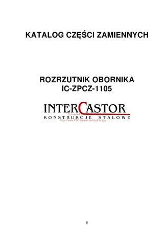Katalog części Rozrzutnik obornika IC-ZPCZ-1105