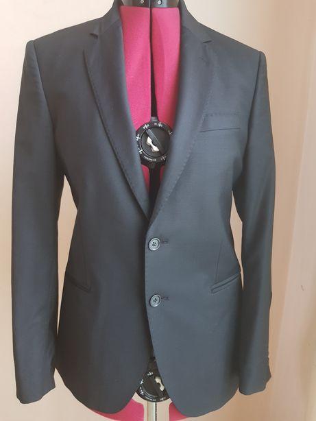 Пиджак мужской черный шерстяной 46 р