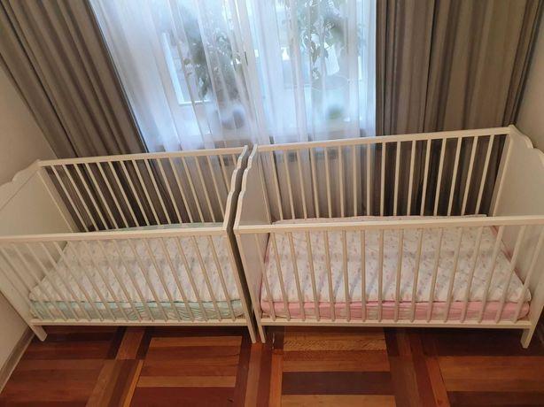 Продам  детские  кроватки  IKEA хенсвик + матрас и два комплекта белья
