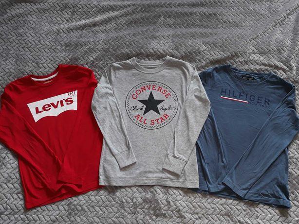 Levis Hilfiger Converse 3 szt. T-shirtów z dł. rękawem 134-140, 9-10l