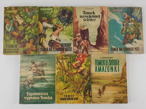 Alfred Szklarski Przygody Tomka 7x Tomek unikaty stare książki